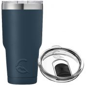 30OZ STAINLESS STEEL TUMBLER (NAVY BLUE)